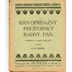 Krivoprísažný Přešporský...